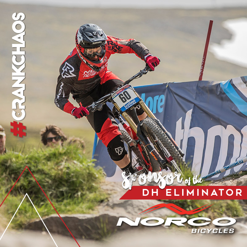 ANNOUNCING THE CRANKCHAOS NORCO DOWNHILL ELIMINATOR